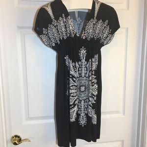 Cristinalove Black and White Dress Size L